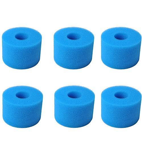 Typ S1 Filterkartuschenschwamm für Intex Pure Spa Whirlpool-Filter, wiederverwendbar, waschbar, S1 Typ Whirlpool Schaumstoff-Filterkartusche