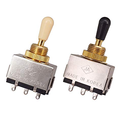 2x Pastilla Interruptores de Selección de Guitarra Equipo de DJ y VJ Regalos Musicales