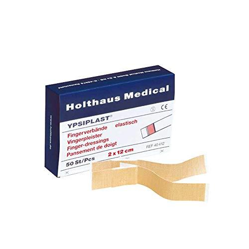 Holthaus Mediacl YPSIPLAST® Fingerverband Fingerpflaster Wundpflaster, elastisch, 2x18cm, 50 St
