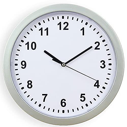 XAENG Reloj, Caja De Fusibles De Reloj, Puede Poner Algunos Artículos Y Un Diseño Circular Elegante, Seguro para Ocultar Objetos De Valor, Puede Almacenar Llaves Y Teléfonos Móviles,Plata