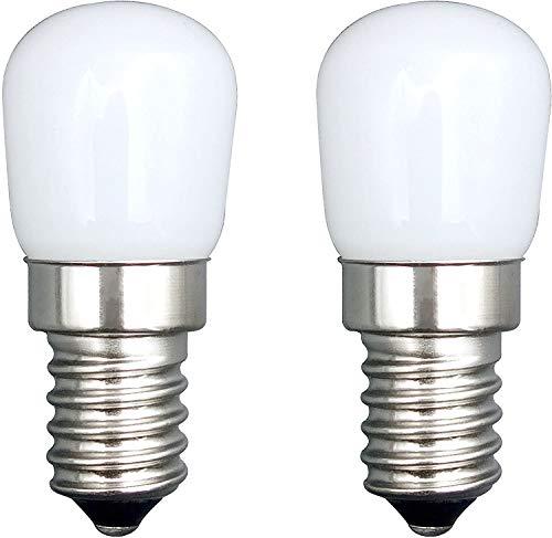 SFTlite E14 LED Birne/[2 Pack] E14 SES LED Pygmy Glühbirne 1.5W 120LM LED Warmweiß Edison Schraube LED Lampen [Entspricht 3W Halogenbirne] E14 Birne Für Kühlschrank/Dunstabzugshaube/Nähmaschine