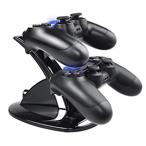 Caricatore controller ps4, Tiancai Caricabatteria Dual USB Docking Station Stand per PS4/PS4 Slim/PS4 Pro