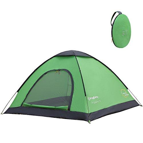 KingCamp Elba Tente de Camping étanche pour 3 Personnes 3 Saisons avec Sac de Transport