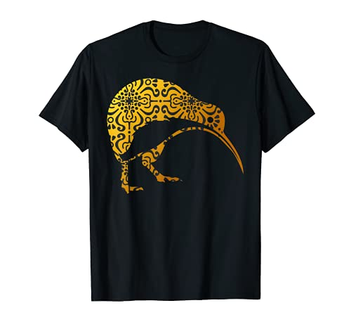 マオリ・キウイ トライバル アバリッジ ニュージーランド バードアート - ギフト Tシャツ