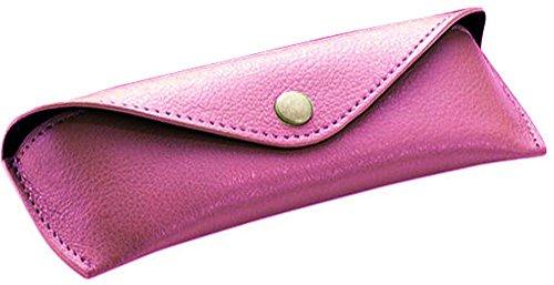 Alassio Brillen - Etui aus echtem Leder, groß, ca. 16 x 7 x 4 cm Taschenorganizer, 16 cm, Rosa