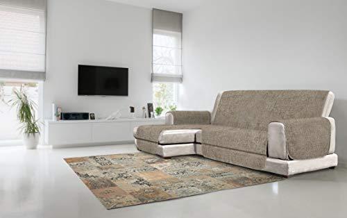 Italian Bed Linen Comfort Copridivano Antiscivolo con Penisola SX, Poliestere, Marrone, 190 cm