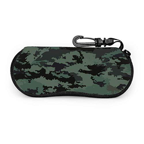 Funda para gafas de protección de camuflaje militar estilo fresco caso de gafas de sol de neopreno con cremallera suave bolsa protectora para gafas de sol