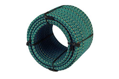 MAGMA Cuerda Elastica 8mm. Monotex Polietileno. Piscinas (Standard NF P 90-308), Toldos, Acampadas, Invernaderos, Exteriores. (50m, Verde)
