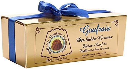 Goufrais Eiskonfekt feinste Pralinen. Gugelhupf Schoko Trüffel Pralinen Konfekt. Geschenk Pralines. Genuss pur Box 150g