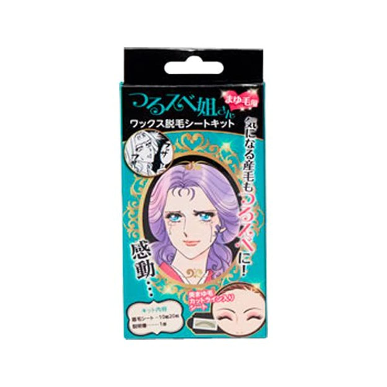 ディレクター最小化する喉頭つるスベ姐さん まゆ毛用 ワックス脱毛シートキット (20枚)