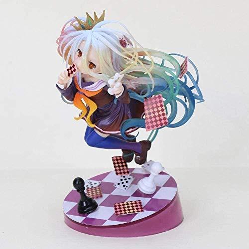 Estatuilla 17cm Anime No Game No Life Shiro Game of Life Tercera generación 1/8 Escala Figura de acción de PVC Pintada Modelo Toys-0301