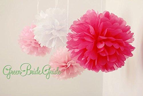 12 x Pompons en papier de soie Rose de mariage Décor Guirlande par Originals Groupe (Kit)