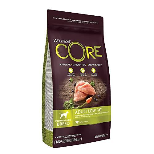 Wellness CORE Healthy Weight / Low Fat, Hundefutter Trocken, getreidefrei, hoher Fleischanteil, reduzierter Fettgehalt - Pute, 1,8 kg