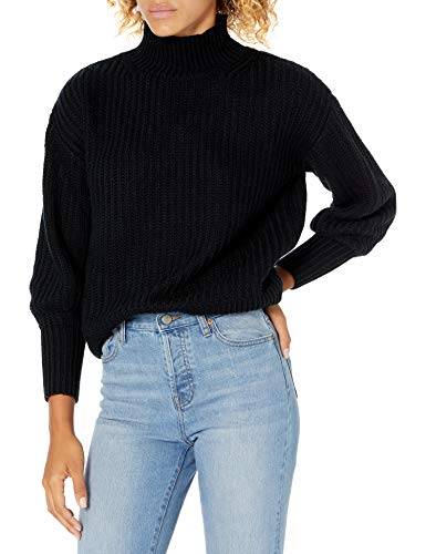 The Drop Women's Ines Chunky Rib Mock-Neck Sweater