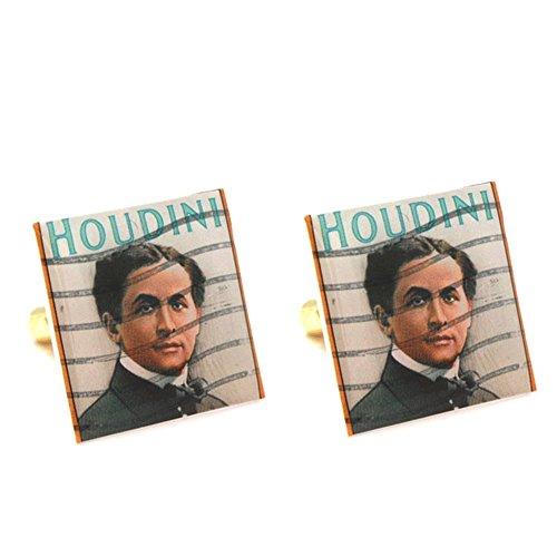 ハリー・フーディーニMagician Stamp Cufflinks