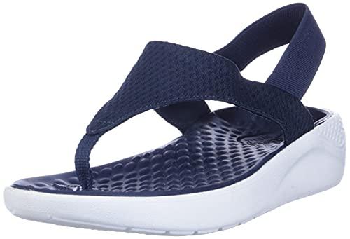 Crocs Literide Mesh Flip W, Scarpe da Spiaggia e Piscina Donna, Multicolore (Navy/White 000), 37/38 EU