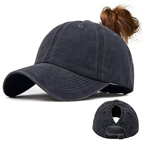 UMIPUBO Gorras de Beisbol Deportes Unisex Clásica Sombra de Sol Hat Verano Washed Cap Ajustable Algodón Sombrero Gorras Beisbol(Negro)