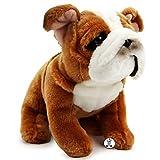 Perro de peluche con diseño de bulldog inglés