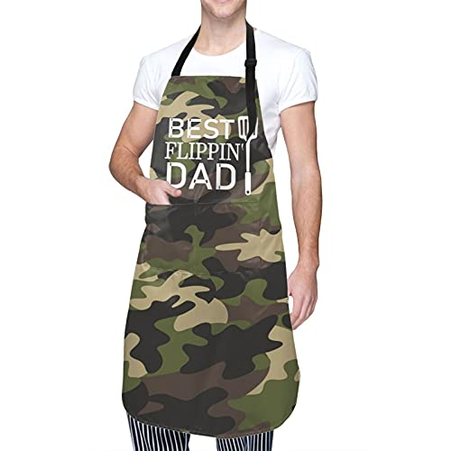 Funny Apron for Men Dad Camo Chef Cooking Aprons for Grilling BBQ Personalized Father Birthday Gifts From Daughter Son