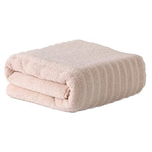 XUNXI Toalla de baño, Toalla de baño de algodón a Rayas acanaladas de Lujo Toalla Absorbente Tejida Jacquard Grueso Rosa