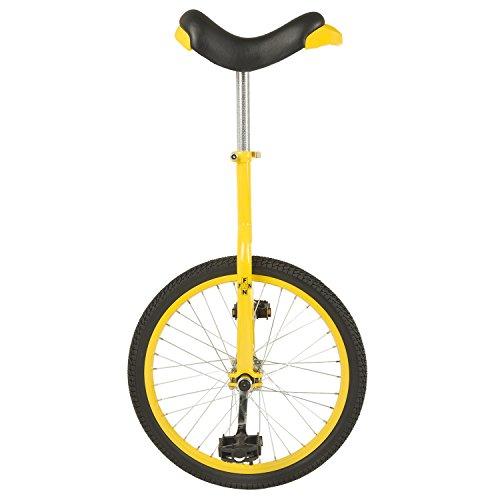Fun 20 Inch Wheel Unicycle with Alloy Rim, Yellow