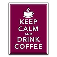 落ち着いてコーヒーを飲む メタルポスター壁画ショップ看板ショップ看板表示板金属板ブリキ看板情報防水装飾レストラン日本食料品店カフェ旅行用品誕生日新年クリスマスパーティーギフト