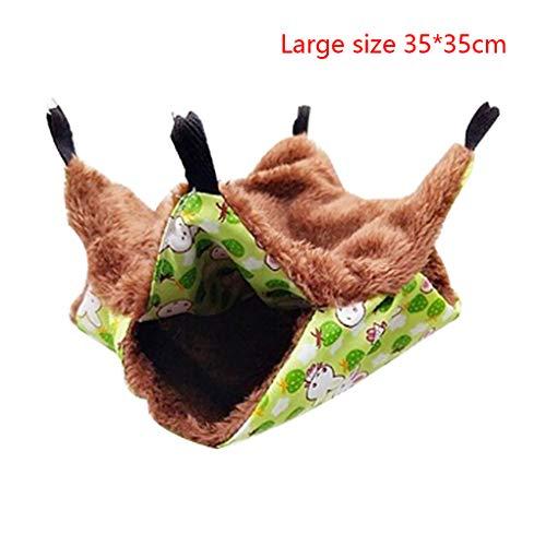 Pigup Double-Layer-Kleintier Hammock Bett Warmer Winter Haustier Hänge Bunkbed Schlafen Cage Swing Beds