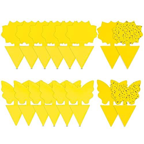 Rpanle 50Pcs steckbare Fliegenfalle Gelbtafeln Gelbsticker, Leimfallen zum Schutz von Pflanzen Auf dem Balkon oder Im Garten