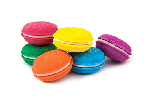 OOLY, Macarons Vanilla-Scented Erasers, School Supplies for Kids - Set of 6