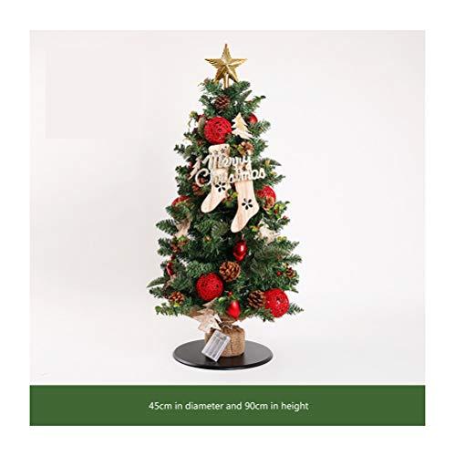 HongTeng Christmas Tree Decoration Table Type Mini Christmas Tree Desktop (Color : C)