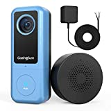 [2021 Newest] 2K WiFi Video Doorbell Camera| GazingSure Alexa Smart Doorbell with Chime| Smart Detection Zone| Cloud/SD Card Storage - Requires Existing Doorbell Wiring or Provided Adapter