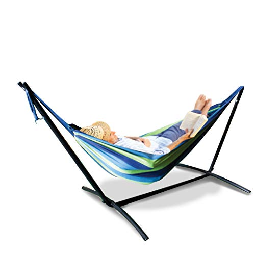 Mototeks Double Hammock with Steel Stand and Carry Bag for...