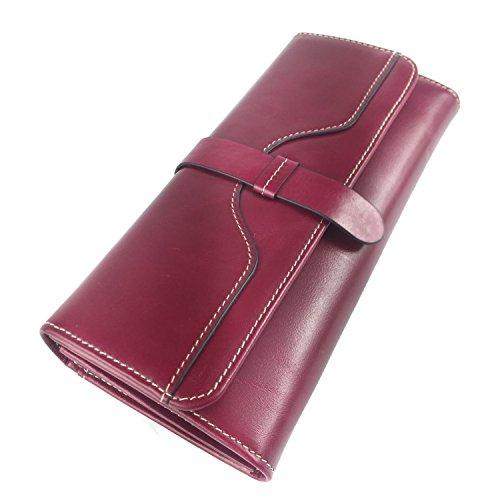 Minetom Donne Elegante Leather Portafoglio Lungo TitolaredellaCartaPochettePortafoglioBorsa Multifunzionale Borsetta Sacchetto del Partito