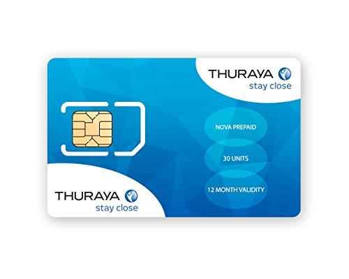 GTC Thuraya Satellite Téléphone NOVA SIM avec 30