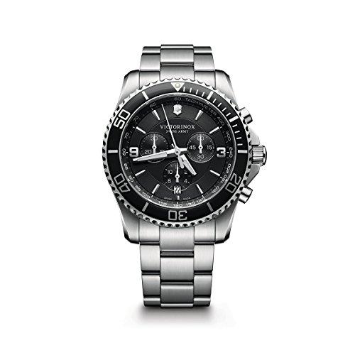 Victorinox Swiss Army Maverick Stainless Steel Chronograph Watch, 43mm, Blue