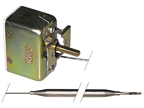 JUMO Thermostat max. Temperatur 300°C 1-polig Fühler ø 6x85mm 1CO 50-300°C Achse 6x4,6x19mm oben Drehwinkel 318° CNS CNS 16A