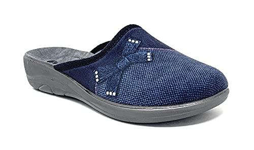 inblu 5D000021 Blu Ciabatte Pantofole Donna Invernali Zeppa 2 CM