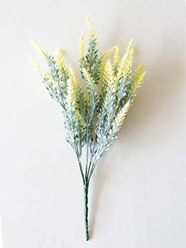 Xinger 25 Hoofden Bruiloft Kunstbloemen Lavendel Nep Bruidsboeket Feest Woondecoratie Decoraties Kunstbloemen, Geel