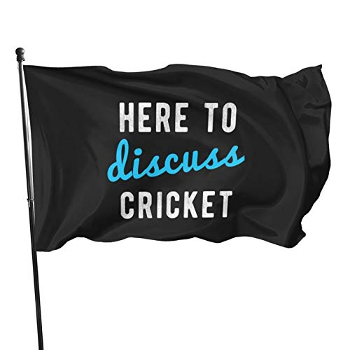 None/Brand Here To Discuss Cricket-Flagge, 91 x 152 cm