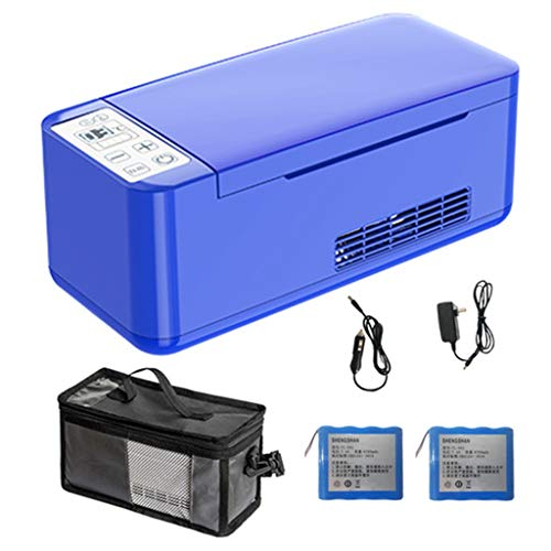 LUCKY Tragbarer -Kühlschrank und Insulin-Kühler Mit Lithiumbatterie * 1 for Auto, Reise, Portable Auto Kühlschrank Fall/Kleine Reisebox for Medikamente (Size : B(with Battery))