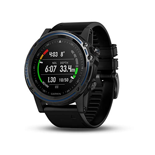 Garmin Descent Mk1, Watch-Sized Dive Computer with Surface GPS, Includes Fitness Features, Gray Sapphire with Black Band, 1.2""