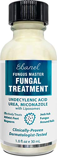 Ebanel Antifungal Treatment, 1 Oz Athletes Foot Treatment with Miconazole, Undecylenic Acid, Urea, Oregano Oil, Salicylic Acid, Kills Fungus on Skin that Leads to Nail Fungus, Ringworm Jock Itch Cream