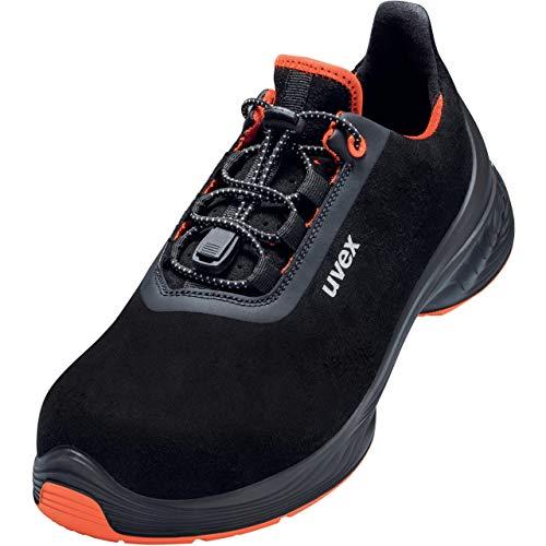 Uvex 1 G2 Arbeitsschuhe - Sicherheitsschuhe S2 SRC ESD - Schwarz/Orange - Weite 14 / Extra Breit, Größe:45