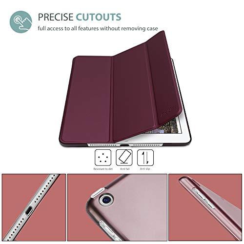 ProCase iPad Air Ultra Dünn Smart Hülle, Leichte Stand Schutzhülle Shell mit Translucent Frosted Rückhülle für Apple iPad Air (A1474 A1475 A1476) -Wein
