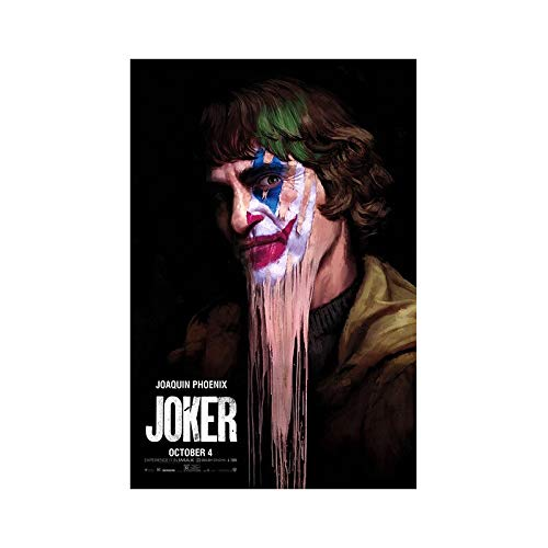 Movie Clown Canvas Wall Art Print for living room decorative pictures and posters wall art60x90cmFrameless painting