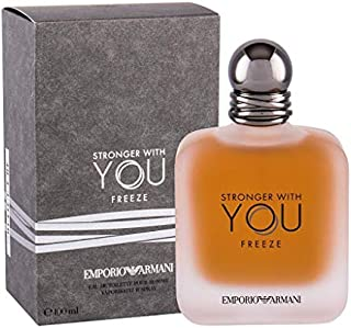GIORGIO ARMANI Stronger with You Eau DE Toilette POUR Homme Freeze 100ML VAPORIZADOR Unisex Adulto Negro Único