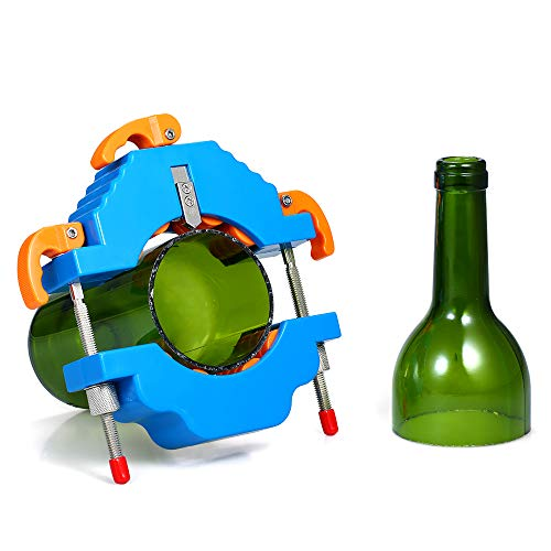 Festnight Glazen flessensnijder DIY fles snijgereedschap voor wijn bierchampagne flessen lampenkap bloempot vasen maken blauw