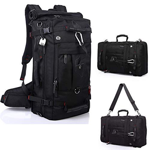 ulchram 55L wassertichte Trekkingrucksacke, Reiserucksack Wanderrucksack mit Innengestell und Schloss, Multifunktionstasche als Trekkingrucksack oder Business-Tasche auch Laptop-Tasche