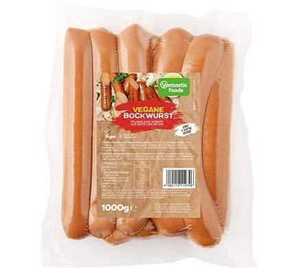 Vantastic foods VEGANE BOCKWURST Großpack, 1kg | Bockwurst Vegan | Vegane Würstchen | Fleischersatz für Veganer | #GOVEGAN