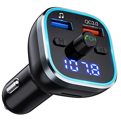 Transmetteur FM pour Voiture Bluetooth 5.0, Adaptateur...